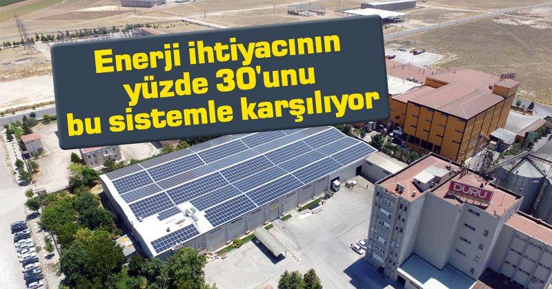 Karaman'da sanayi tesisienerji ihtiyacının yüzde 30'unu bu sistemle karşılıyor