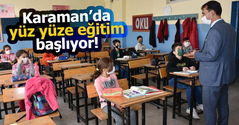 Karaman'daki Okullar 15 Şubat'ta Yüz Yüze Eğitime Hazır