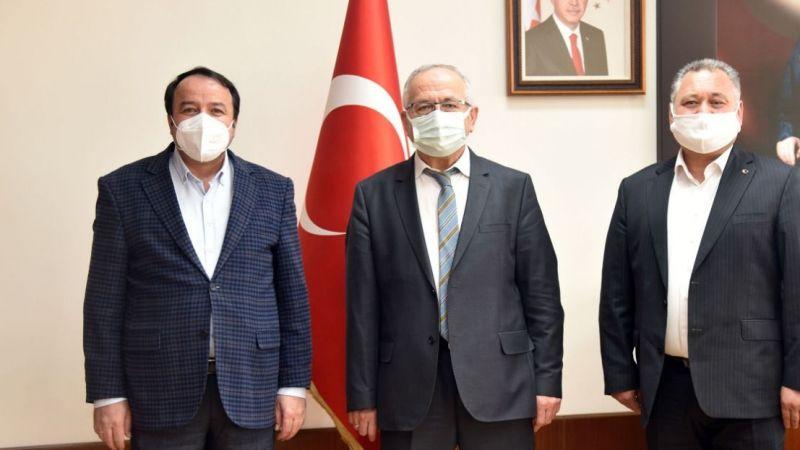 Ali Osman Cevher ve Süleyman Atik'ten Rektör Ak'a Ziyaret