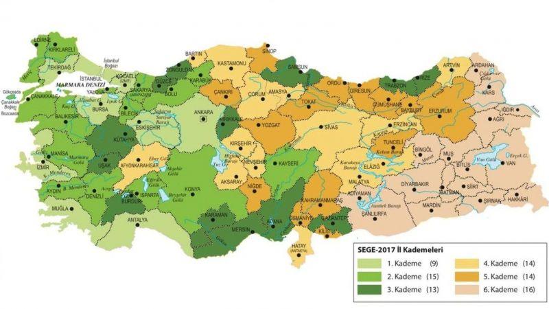 Sosyo-ekonomik gelişmişlik sıralamasında Karaman kaçıncı sırada?