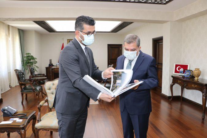 AA Konya Bölge Müdürü Ömer Süt'ten, Vali Mehmet Alpaslan Işık'a ziyaret