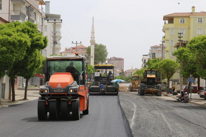 Karaman'da asfaltlama çalışmaları