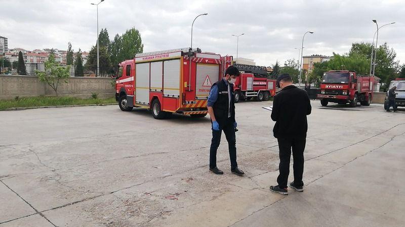 Karaman'da itfaiye aracının altında kalan itfaiye eri hayatını kaybetti
