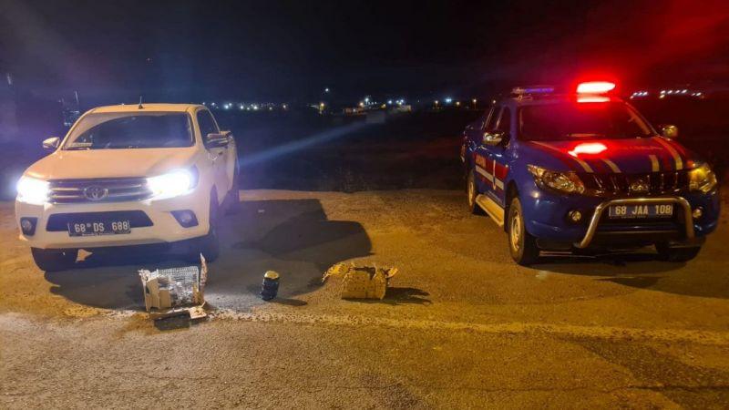 Aksaray'da yolcu otobüsünün bagajında yasa dışı yollarla yurda getirilen 30 sincap bulundu