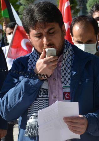 İsrail'in Mescid-i Aksa saldırıları Karaman'da protesto edildi