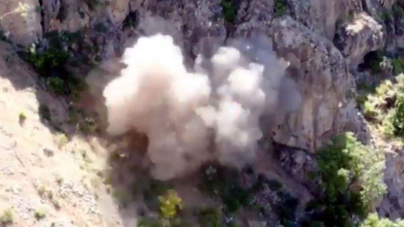 Irak'ın kuzeyindeki mühimmat dolu mağara, kullanılamaz hale getirildi
