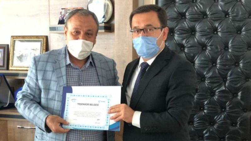 SSK'dan Yurtpet Petrol A.Ş.'ye Teşekkür Belgesi