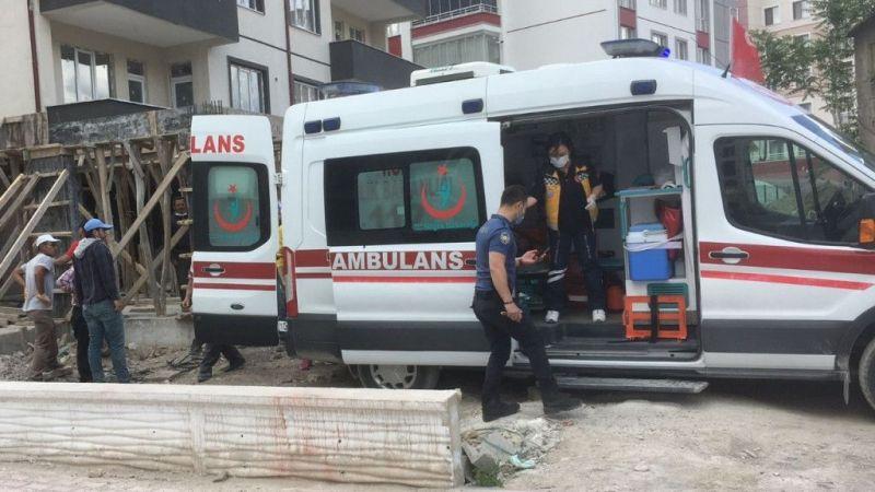 Ereğli'de inşaattan düşen işçi yaralandı