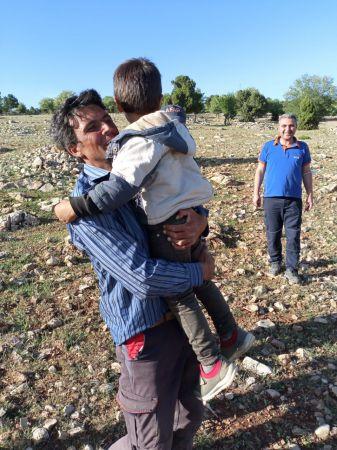 Konya'da dağlık alanda kaybolan çocuk bulundu