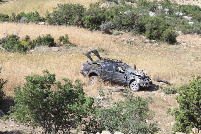 Liseli kamyonetle araziye yuvarlandı: 5 yaralı