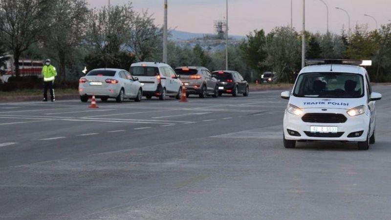 Konya'da kural ihlali yapan bin 129 sürüye ceza