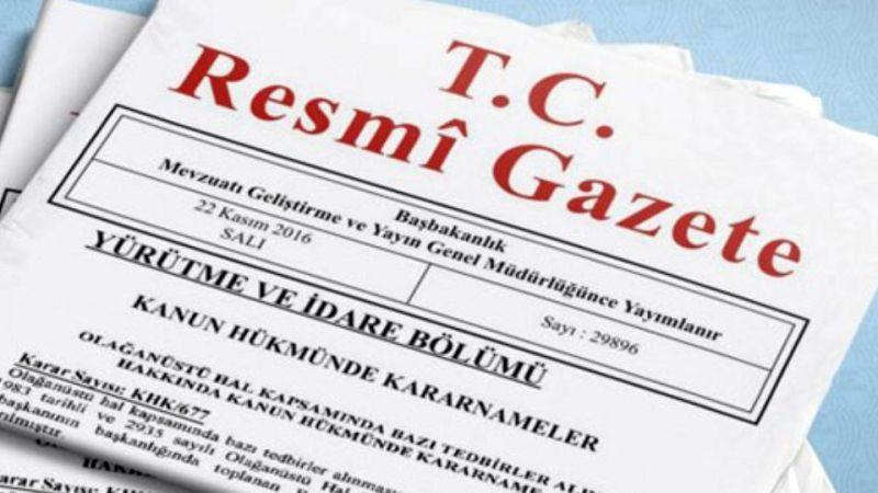 Terör finansmanlarının malvarlıklarının dondurulmasına ilişkin karar Resmi Gazete'de
