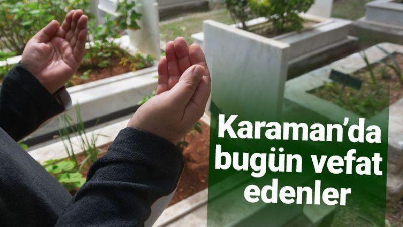 9 Haziran Karaman'da vefat edenler