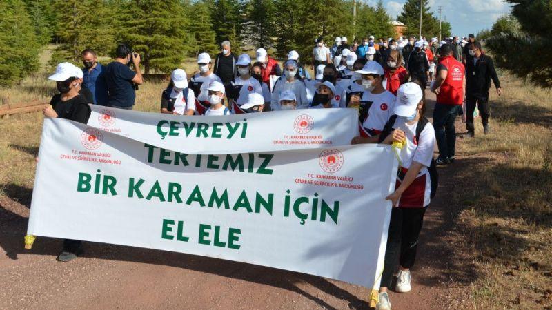 """Karaman'da """"Çevre Yürüyüşü"""" yapıldı"""