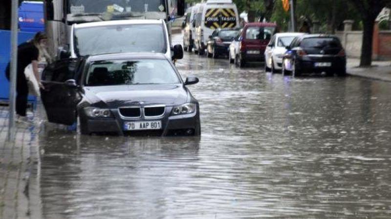 Karaman'da sağanak yağmurlar başlıyor