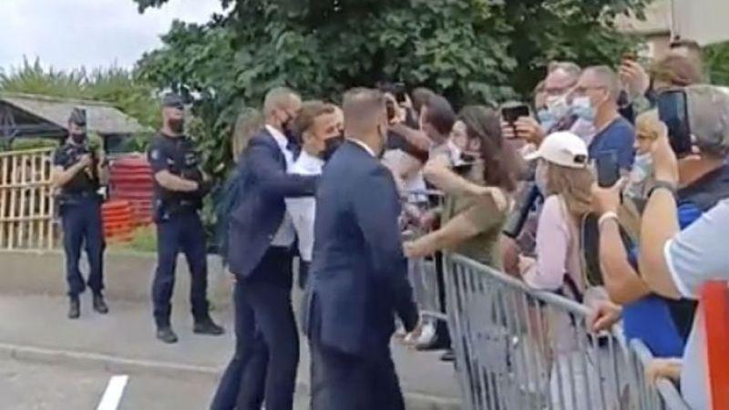 Macron'a tokat atan kişinin cezası belli oldu
