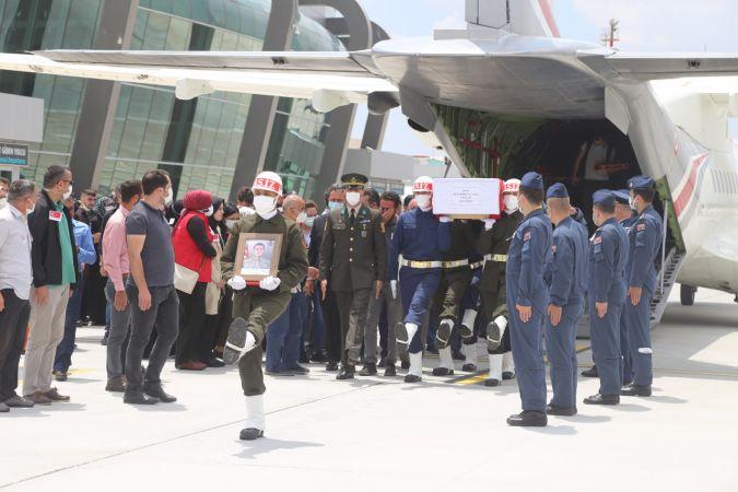 Şehit Muhammed Ali Akın'ın cenazesi memleketi Konya'ya getirildi