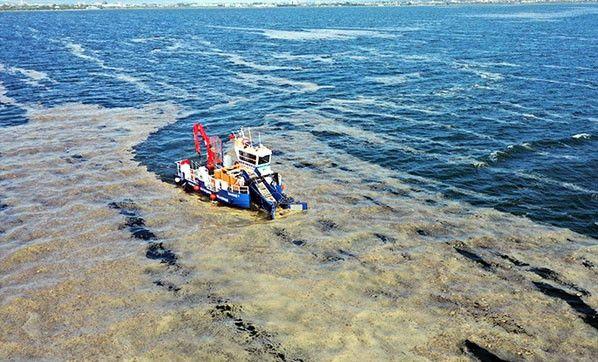 Marmara Denizi'nden 7 günde 2 bin 684 metreküp müsilaj temizlendi