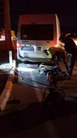 Konya'da minibüs ile motosiklet çarpıştı: 2 yaralı