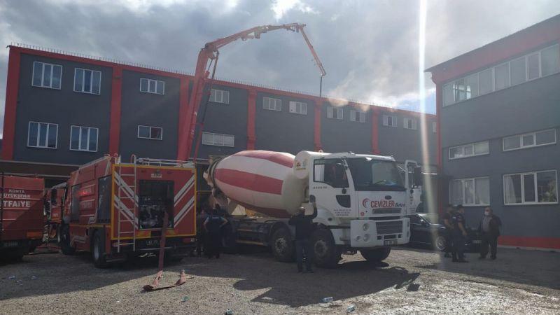 Konya'da bir silah fabrikasında çıkan yangın itfaiye ekiplerince söndürüldü