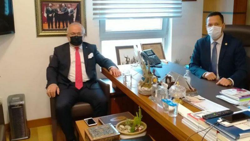 Rektör Namık Ak'tan Karaman Milletvekili Eser'e Ziyaret