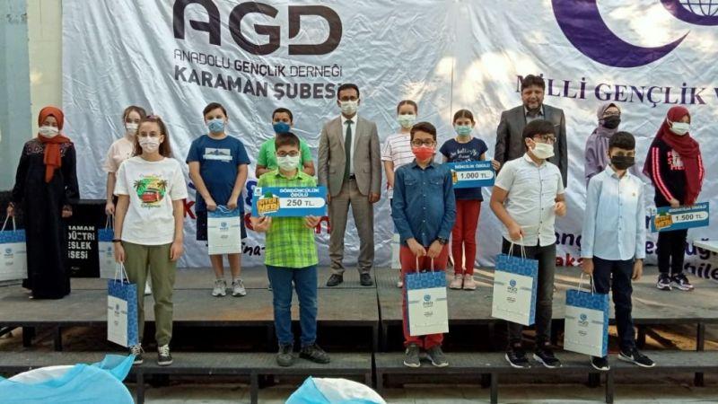 Karaman'da kaybedeni olmayan yarışmanın ödülleri verildi