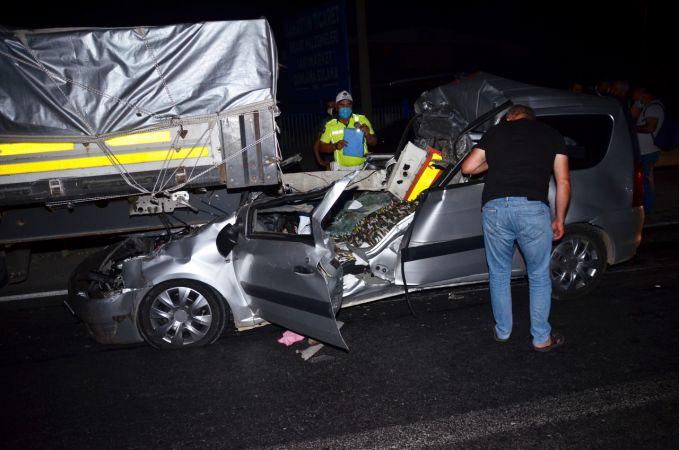 Tırla otomobil çarpıştı: 1 ölü