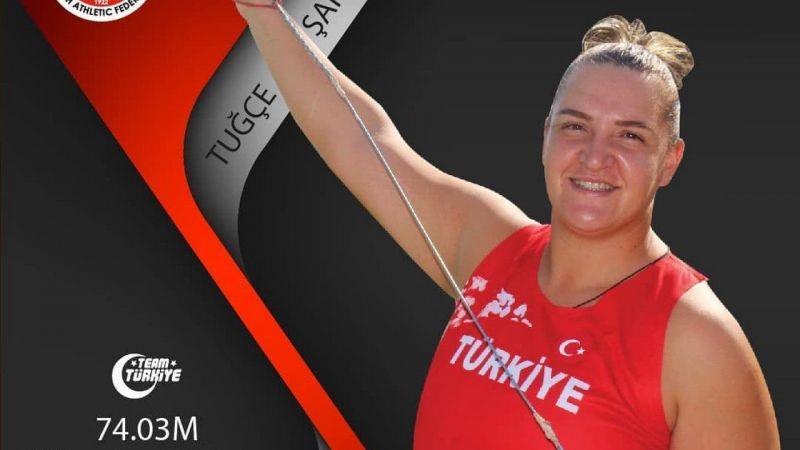 Milli atlet Tuğçe Şahutoğlu'ndan çekiç atmada olimpiyat kotası