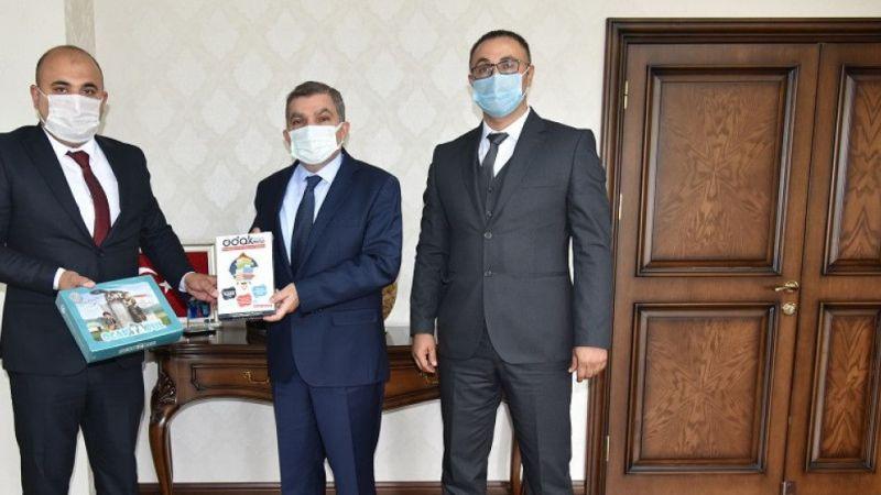 Karaman Ülkü Ocakları Başkanı Başkocagil Vali Işık'ı ziyaret etti