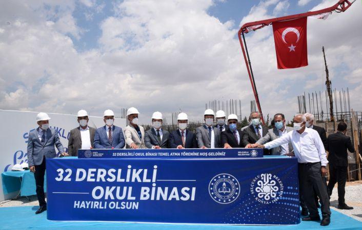 Konya'da 32 derslikli okulun temeli atıldı