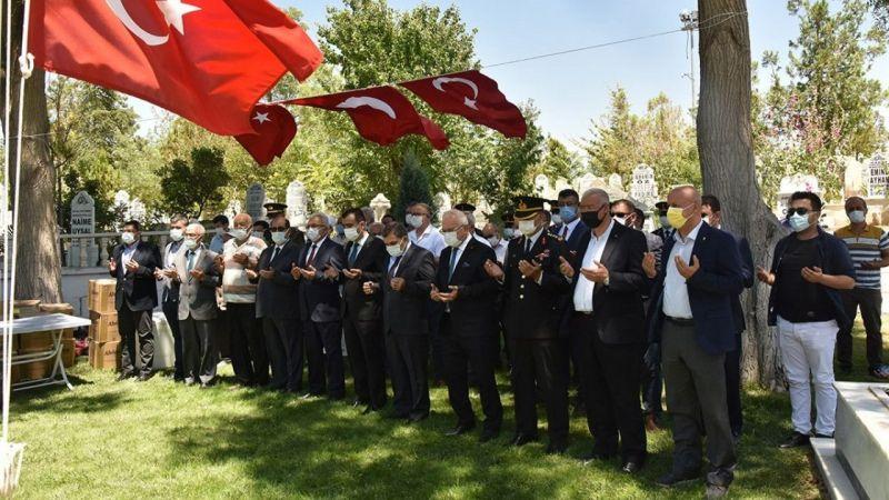 Karaman'da şehitlik ziyareti