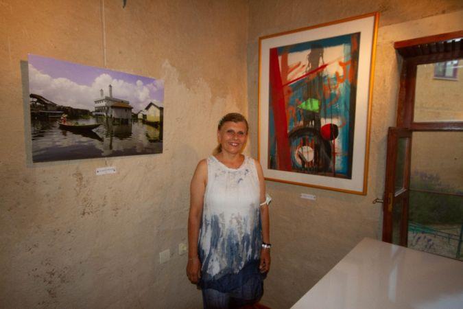 Sanatçıların köyünde sanat evi ve sergisi açıldı