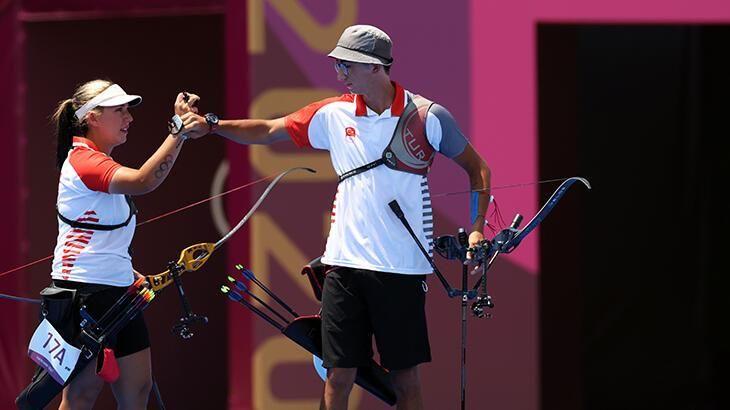 2020 Tokyo Olimpiyatları'nda okçuluk karışık takımı 4'üncü oldu