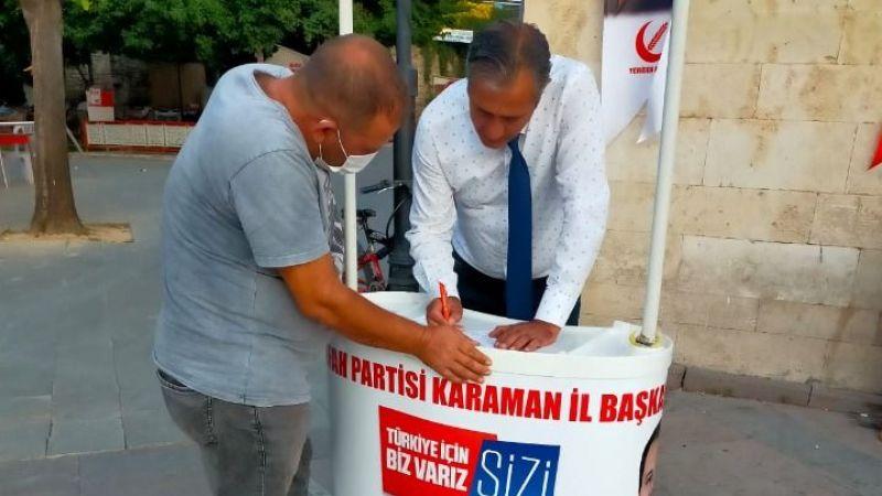 Yeniden Refah Partisi Karaman'da Üye Kabul Standı Açtı