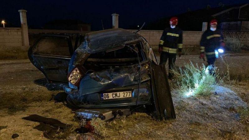 Konya'da kaza; sürücü ve oğlu yaralandı, kocası ve diğer oğlu öldü