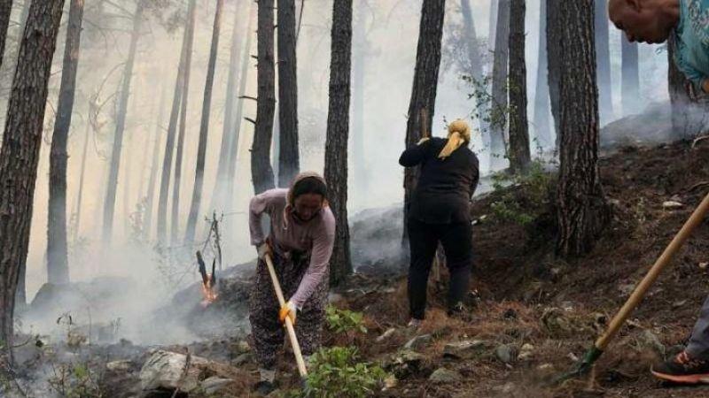 Yangına karşı tek yürek oldular: Ahmetler düşerse Toroslar düşer