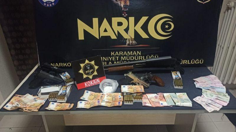 Karaman'da uyuşturucu operasyonu: 2 şüpheli yakalandı