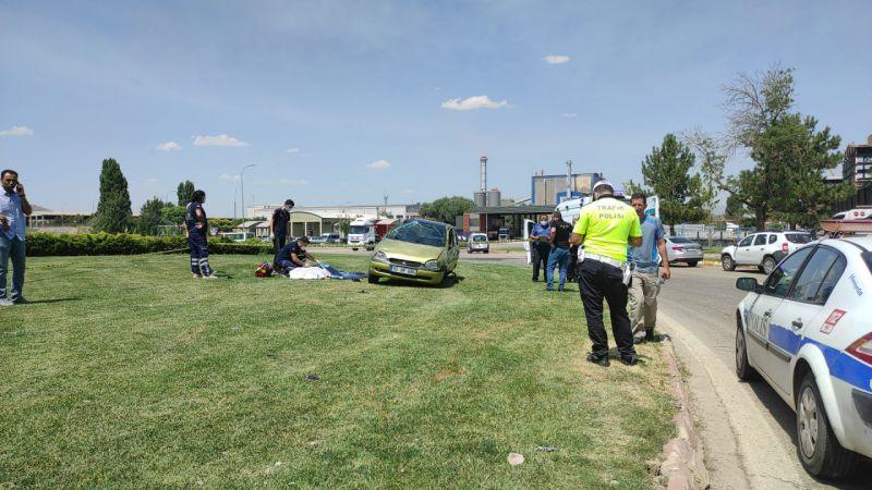 Takla atan otomobilin sürücüsü Merve öldü