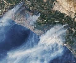 NASA, yangın bölgelerinin uydu görüntülerini yayınladı