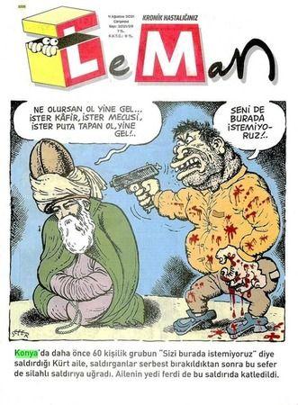 Leman Dergisi'nden bir skandal daha: Rezil karikatür!