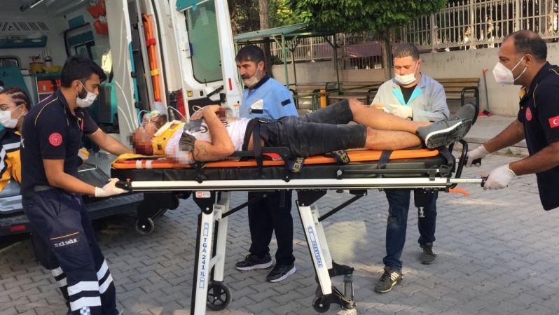 Konya'da önündeki araca çarpan sürücü taklalar attı