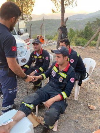 Yangınla mücadelede yaralandılar, tedavilerinin ardından yine bölgeye gittiler
