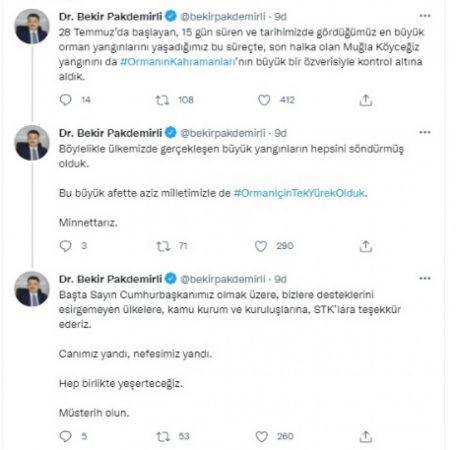 """""""Orman yangınlarının son halkası Köyceğiz'de kontrol altında"""""""