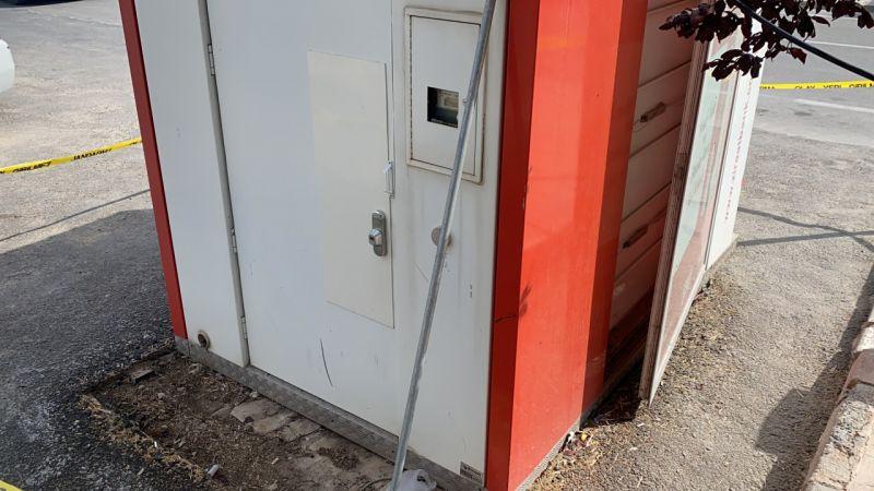ATM'ye forkliftle saldırı anı güvenlik kamerasında