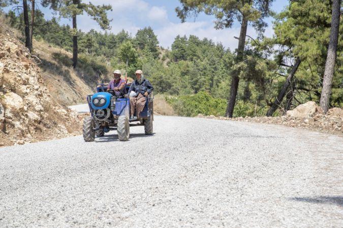 Şahna-Üzümlü arasındaki 2 bin 600 metrelik yol yenilendi
