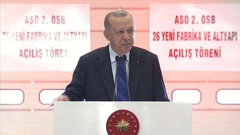 Cumhurbaşkanı Erdoğan 26 yeni fabrika ve altyapıların açılış töreninde