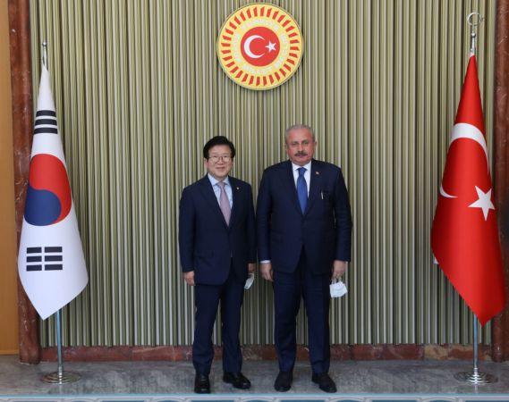 Meclis Başkanı Şentop, Güney Koreli mevkidaşıyla görüştü