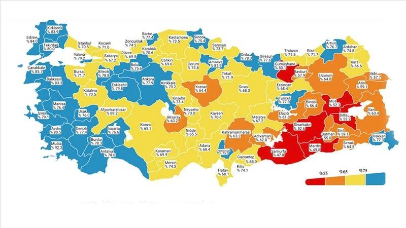 Kovid-19 risk haritasında düşük riskli il sayısı 28'e yükseldi