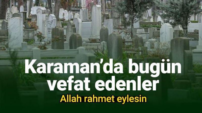 18 Ağustos Karaman'da vefat edenler