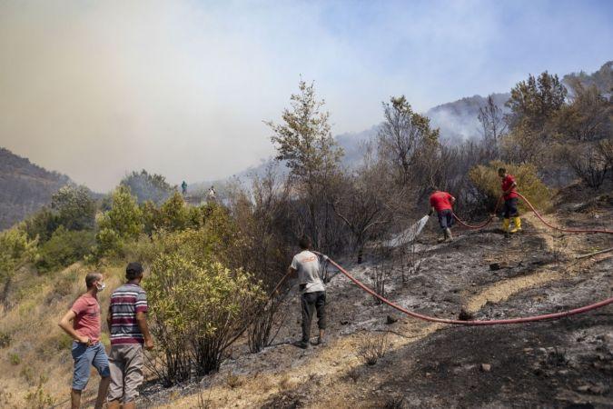Silifke ve Aydıncık'ta yaklaşık 14 bin hektar alan yandı